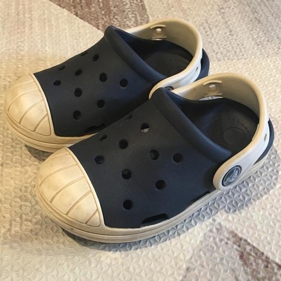 eb92acb4f CROCS Other - Toddler Crocs Navy   Oyster Bump It Clog Sz 8